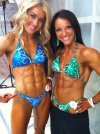 Girl with muscle - Jamey Peters (L) Amber Jacobs (R)