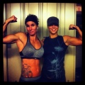 Girl with muscle - Tanya Nesi and Emmanuelle Ethier