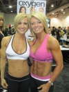 Girl with muscle - Jamie Eason (L), Amy Rozier (R)