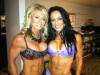 Girl with muscle - Amy Rozier (L) - Carla Sizemore (R)