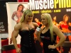 Girl with muscle - Lisa Cross(L) Mary Schmitt (R)