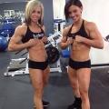 Girl with muscle - Jess Martin (L) / Jodi Boam (R)