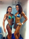 Girl with muscle - Tanya Etessam (L) - Alicia Terrell (R)