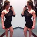 Girl with muscle - Ashley Sneathen