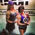 Girl with muscle - Leah Johnson (L) - Jodi Boam (R)