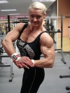 Girl with muscle - brigita brezovac