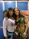 Girl with muscle - Carrie Simmons (L) Sarah Hayes (R)
