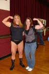 Girl with muscle - Becca Swanson (l) , Christina McDowell (r)