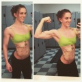 Girl with muscle - danae apel