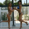 Girl with muscle - Hope Trask (l), Nicole Dilone (r)
