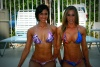 Girl with muscle - Nicole Dilone (l), Hope Trask (r)