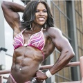 Girl with muscle - April Pinkston