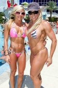 Girl with muscle - Robin Castro (L) - Tish Shelton (R)