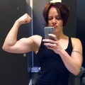 Girl with muscle - sarah hawley