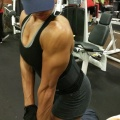 Girl with muscle - Triceps