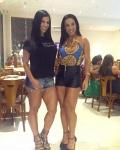 Girl with muscle - Eva Andressa Vieira (L), Scheila Carvalho (R)