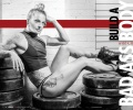 Girl with muscle - Christmas Abbott