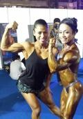 Girl with muscle - Roongtawan Jindasing (L) - Sue Suharni (R)