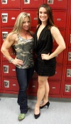 Girl with muscle - Debi Laszewski (L) Sarah Sussman (R)
