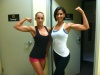 Girl with muscle - Hope Trask (L) Nicole Dilone (R)