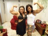 Girl with muscle - Roberta Toth (l) Catia Valeria (r)
