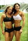 Girl with muscle - Monica Brant (L) & Erin Stern (R)