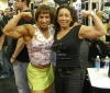 Girl with muscle - Tazzie Colomb (left)