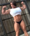 Girl with muscle - aleesha young