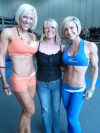 Girl with muscle - Carly Thornton (L) / Jamie Eason (R)