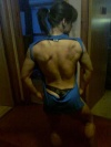 Girl with muscle - Lats