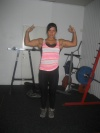 Girl with muscle - kristina