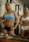 Girl with muscle - Betsy and Shelly Albetta (twins)