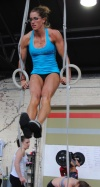 Girl with muscle - xfit
