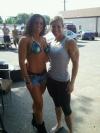 Girl with muscle - Jennifer Smythe (L) - cynthia colon (R)