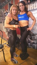 Girl with muscle - Ana Lopez (L) - Diamela Garcia (R)