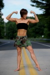 Girl with muscle - danielle delikat