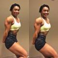 Girl with muscle - samantha opida