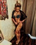 Girl with muscle - Olga Mandrovskaya