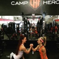 Girl with muscle - Brenna Spracklen (L) - Becca Brier (R)