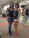 Girl with muscle - Leann VandeBerg (L) - Jennifer Foster (R)