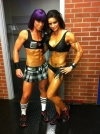 Girl with muscle - Jannika Larsson (L) Cecilia Benjaminson (R)