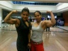 Girl with muscle - Ponnie Atmaja (l), Melly Sevoy (r)