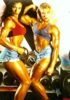 Girl with muscle - Deidre Pagnanelli (L), Ericca Kern (R)