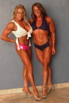 Girl with muscle - Colette Nelson (L), Sarah Dunlap (R)