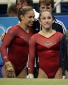 Girl with muscle - Courtney Kupets (L) Carly Patterson (R)