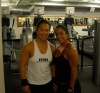 Girl with muscle - Amanda Lau (L); Toni Gast (R)