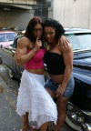 Girl with muscle - Autumn Raby (l) Tatiana Anderson (r)